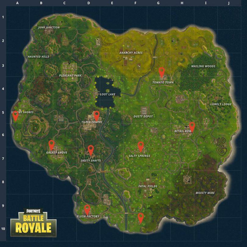 3372418 fornite gnome map 810x810 - Fortnite: Todos los desafíos de la semana 7, gnomos, armas suprimidas y Shafts.