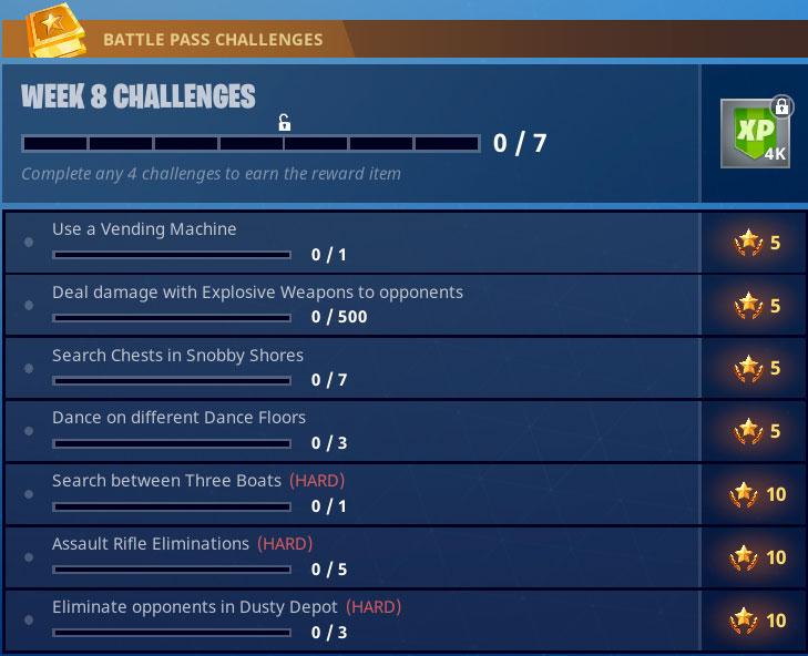 ashduiasdhiau - Fortnite: Mapa completo de la hoja de trucos de Battle Royale para los desafíos de la semana 8