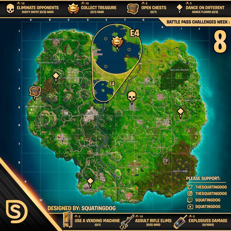 gr2r67vdqhr01 810x810 - Fortnite: Mapa completo de la hoja de trucos de Battle Royale para los desafíos de la semana 8