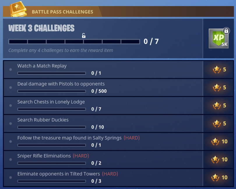 Season 4 Week 3 Challenges Fortnite Battle Royale 810x651 - Fortnite Battle Royale: Ubicaciones de los Patos de Goma para la Temporada 4 Semana 3