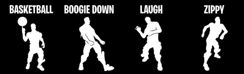 dances 810x248 - Los mineros de datos han filtrado cuatro nuevos emotes que vienen a Fortnite