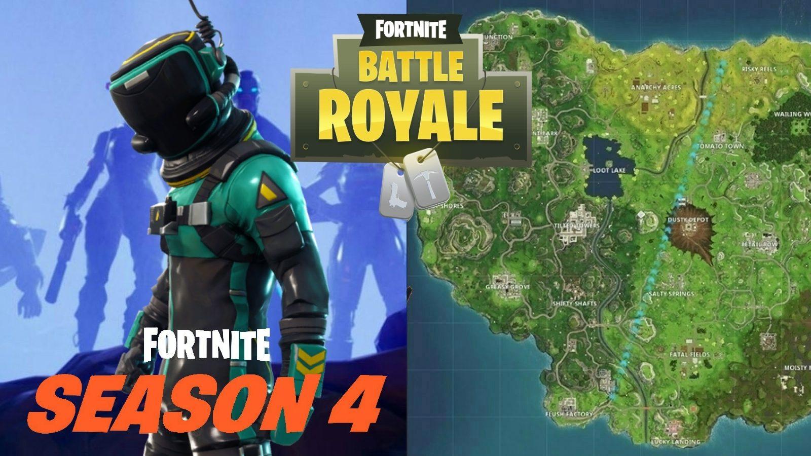 Fortnite Week 4 Season 8 Fortnite Mapa De La Hoja De Trucos De Battle Royale Y Ubicaciones Para La Temporada 4 Semana 4 Desafios Fortnite10