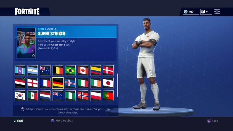 12 810x456 - Todas las 32 camisetas de fútbol en Fortnite - Galería completa