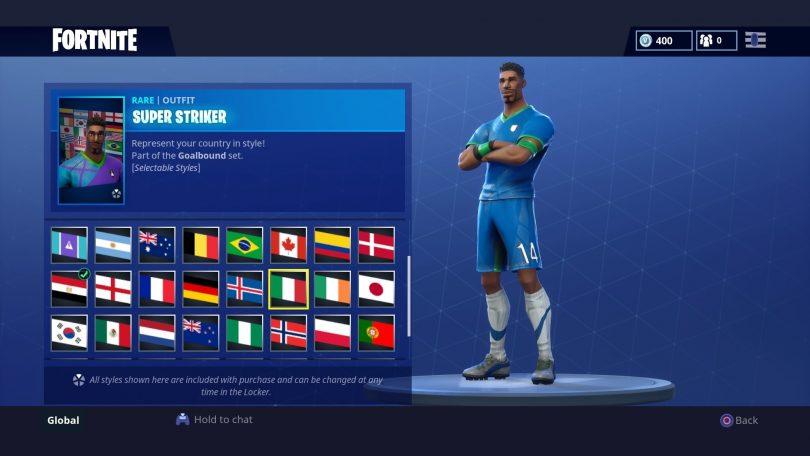 14 810x456 - Todas las 32 camisetas de fútbol en Fortnite - Galería completa