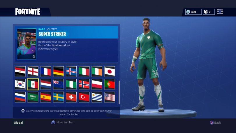 18 810x456 - Todas las 32 camisetas de fútbol en Fortnite - Galería completa