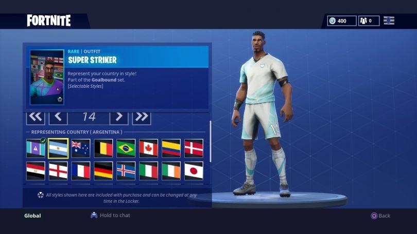 2 810x456 - Todas las 32 camisetas de fútbol en Fortnite - Galería completa