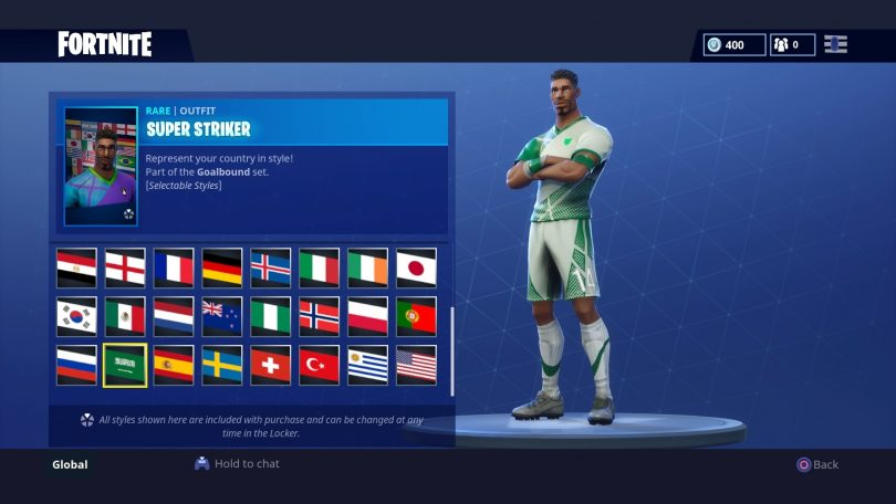 26 810x456 - Todas las 32 camisetas de fútbol en Fortnite - Galería completa