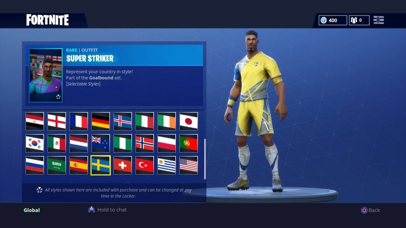 28 810x456 - Todas las 32 camisetas de fútbol en Fortnite - Galería completa