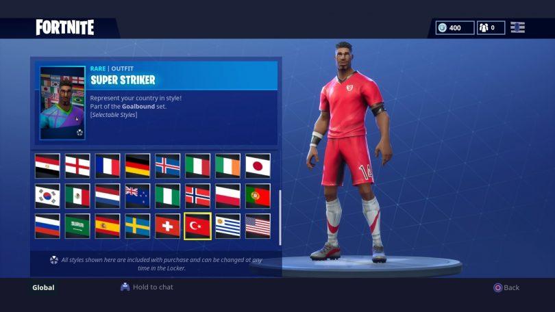 30 810x456 - Todas las 32 camisetas de fútbol en Fortnite - Galería completa