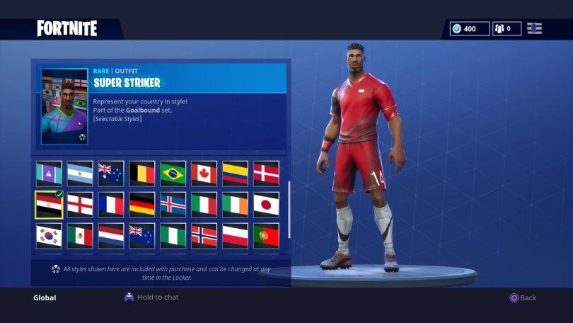 9 810x456 - Todas las 32 camisetas de fútbol en Fortnite - Galería completa