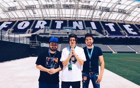 El Rubius, Willyrex y Lolito en el torneo de Fortnite del E3
