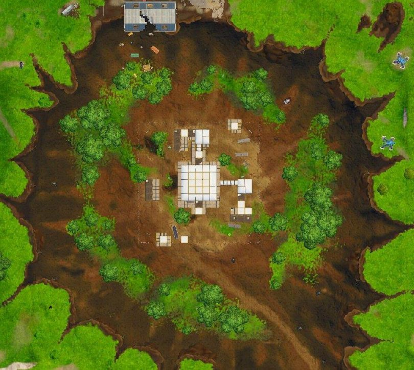 fortnite dusty divot change 810x725 - Imágenes filtradas muestran cambios importantes en el mapa de Fortnite Battle Royale