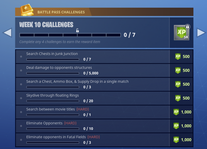 fortnite week 10 season 4 challenges 810x585 - Los desafíos de Fortnite Battle Royale para la semana 10 de la temporada 4