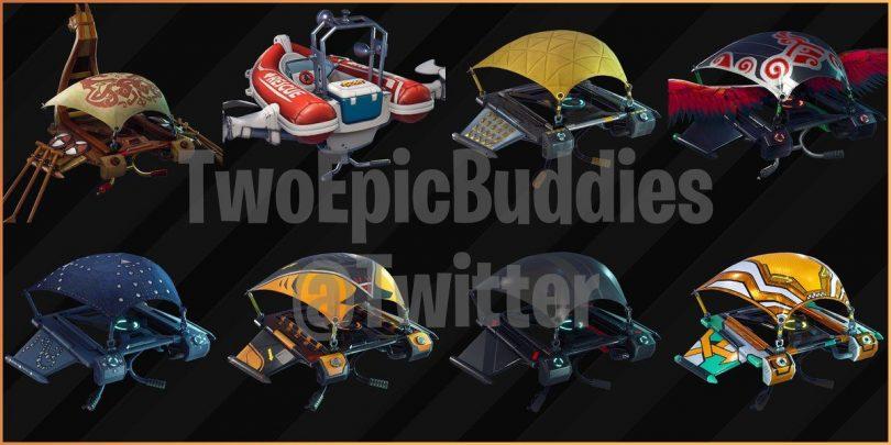 leak gliders 810x405 - Fortnite Temporada 5 nuevos skins y itens filtrados