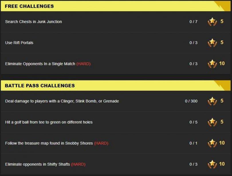 week5 challenges 810x615 - Todos los desafíos de Fortnite para la Semana 5 de la 5ª Temporada